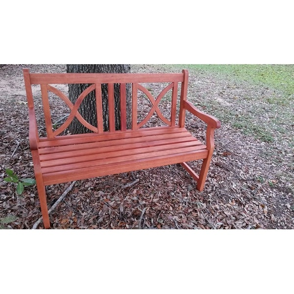 Softcross 4 Foot Eucalyptus Wood Outdoor Garden Bench   Free Shipping Today    Overstock   14162506