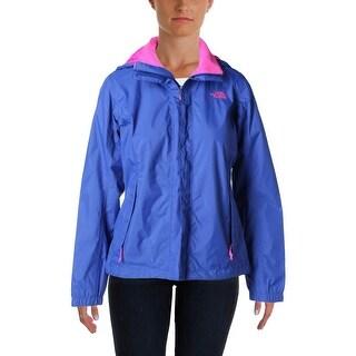 The North Face Womens Nylon Zip Front Windbreaker Jacket - S