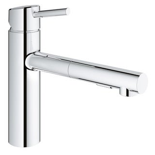 Grohe 31 453 Concetto Pull-Out Kitchen Faucet with 2-Function Locking Sprayer