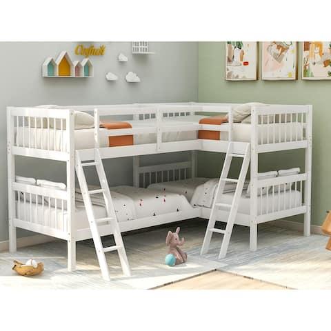 Nestfair L-Shaped Twin Size Bunk Bed