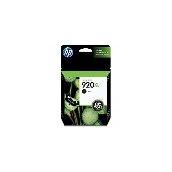HP 920XL High Yield Black Original Ink Cartridge (Single Pack) HP 920xl Black Ink Cartridge - Black - Inkjet - 1200 Page - OEM