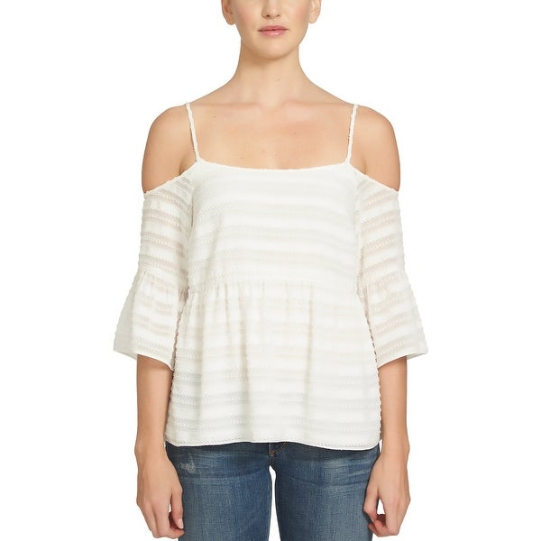 8b3204419 STATE Cold Shoulder Top Cloud - M - Free Shipping On Orders Over $45 -  Overstock - 23032989