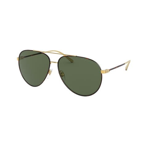 Ralph Lauren RL7068 938471 60 Havana On Shiny Gold Man Pilot Sunglasses