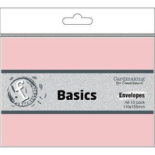 Fundamentals Cardmaking A6 Envelopes 10/Pkg-Rose