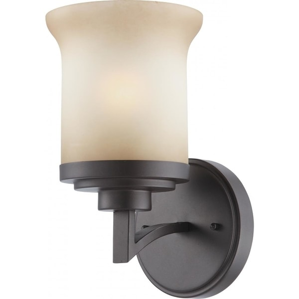 """Nuvo Lighting 60/4121 Harmony 1-Light 6"""" Wide Bathroom Sconce with Frosted Glass Shade - dark chocolate bronze"""