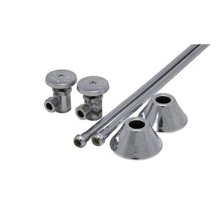 """ProFlo PFXCAT22CL12 3/8"""" x 3/8"""" Straight Supply Stop Kit with Risers and Flanges - Pack of 2"""