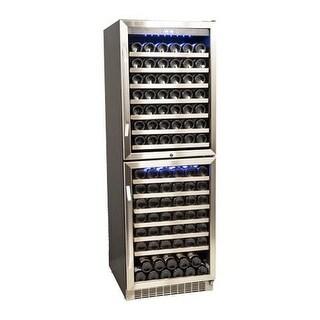 EdgeStar CWR1551DD 23 Inch Wide 155 Bottle Built-In Wine Cooler with Double Door