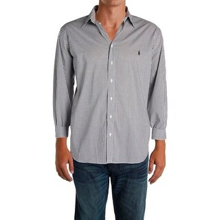 Ralph Lauren Mens Big & Tall Casual Shirt Checkered Button Front - 2xb