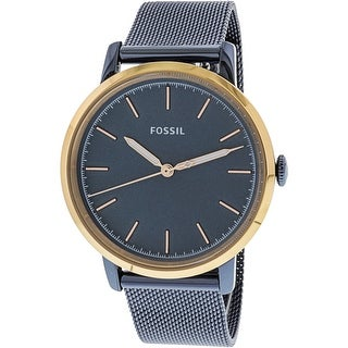 Fossil Women's Neely ES4312 Blue Stainless-Steel Japanese Quartz Fashion Watch