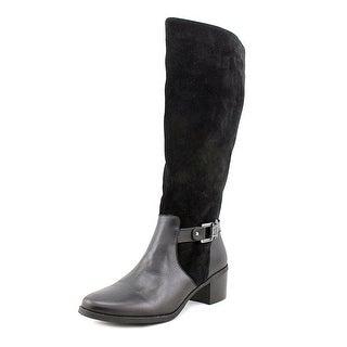 Anne Klein Joetta Round Toe Suede Knee High Boot