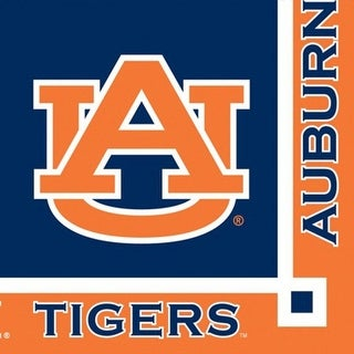 Club Pack of 240 NCAA Auburn Tigers 2-Ply Tailgating Party Beverage Napkins