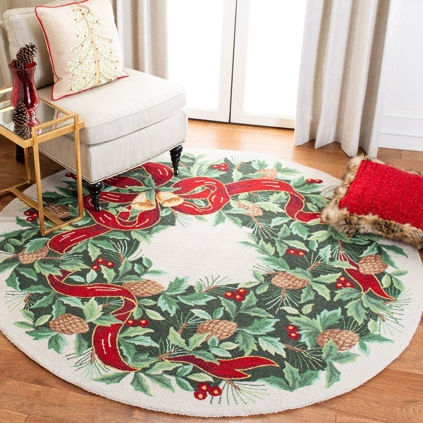 Safavieh Hand-hooked Vintage Poster Arvida Holiday Wool Rug. Opens flyout.