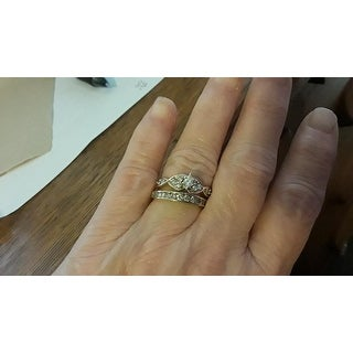 10k Yellow Gold 1/2ct TDW Diamond Wedding Band - White I-J