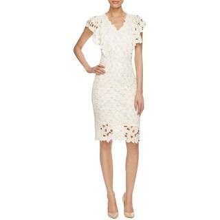 Elie Tahari Womens Morgan Wear to Work Dress Lace Knee Length