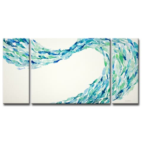 'Flow' by Norman Wyatt, Jr. 3-Piece Wrapped Canvas Wall Art Set