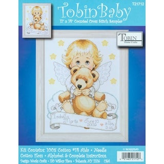 """Angel Birth Record Counted Cross Stitch Kit-11""""X14"""" 14 Count"""