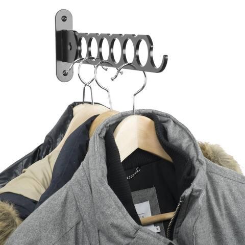"Wallniture Costa Clothes Rack, 14"" Wardrobe Organizer, Steel, Black"