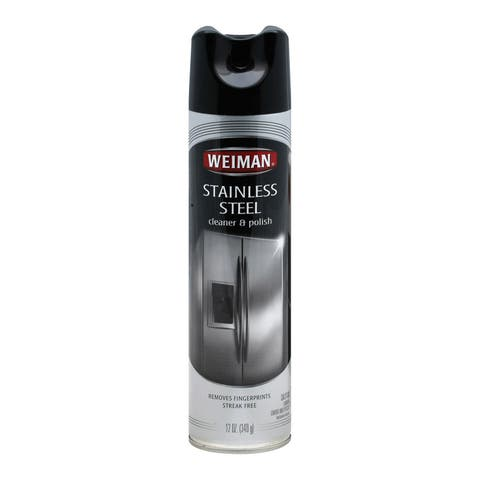 Weiman Stainless Steel - Cleaner and Polish - Case of 6 - 12 oz.