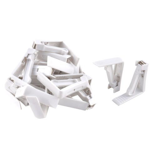 Home Party Wedding Banquet Plastic Table Cloth Holder Clip Clamp White 24 Pcs