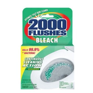 2000 Flushes 290071 Automatic Toilet Bowl Cleaner, 1.75 Oz