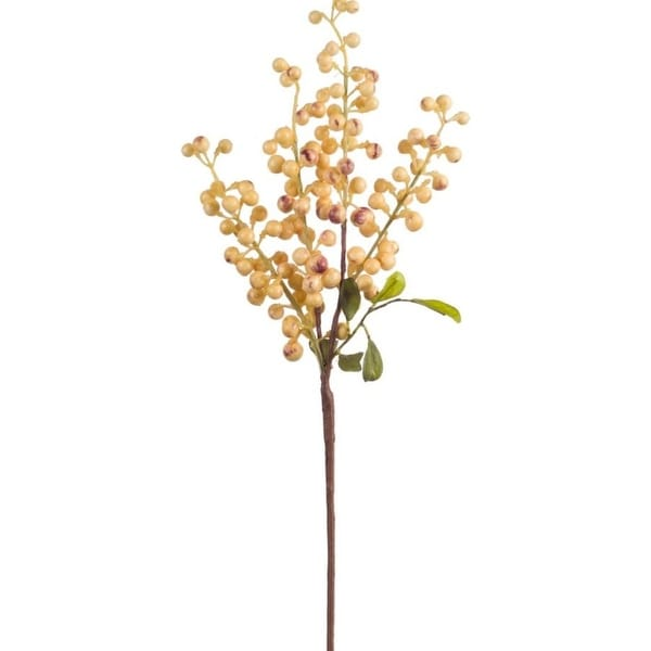 """Club Pack of 24 Holiday Indoor Burnt Yellow Berry Pick 18.5""""H"""
