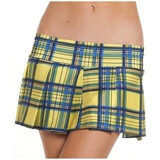 Pleated Schoolgirl Mini Skirt