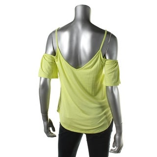 Ella Moss Womens Pleated Double-V Casual Top