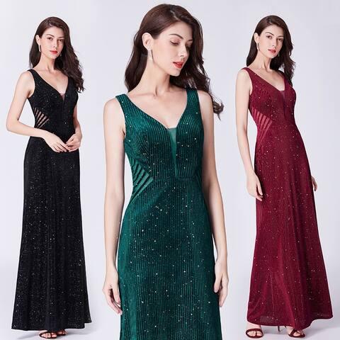 Ever-Pretty Women's Retro Velvet Glitter Formal Evening Party Dress 07439