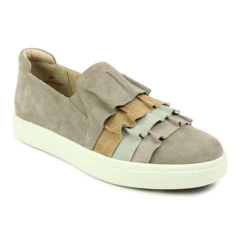 Vaneli Womens Only Suede Low Top Slip On Fashion Sneakers