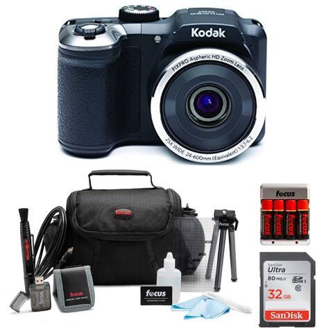 KODAK PIXPRO AZ252 Astro Zoom Digital Camera (Black) Bundle