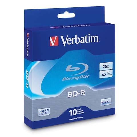 Verbatim 97238M Verbatim 25 GB 6x Blu-ray Single Layer Recordable Disc BD-R, 10-Disc Spindle 97238 - Multicolor