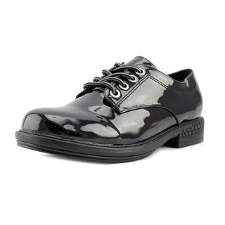 2 Lips Too Too Riddle Women Round Toe Patent Leather Oxford