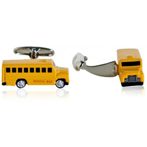 Yellow School Bus Teacher Principal Cufflinks