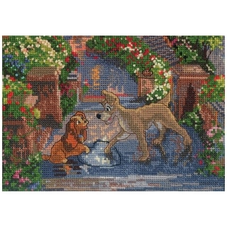 """Disney Dreams Collection By Thomas Kinkade Lady & The Tramp-7""""X5"""" 16 Count"""
