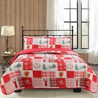 Link to Holiday Patchwork 3-piece Quilt Set Similar Items in Quilts & Coverlets