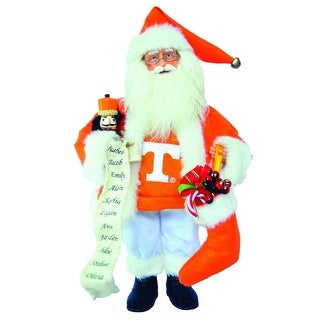 "15"" NCAA Tennessee Vols Santa Claus Christmas Figure with Nutcracker & Stocking"