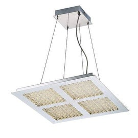 Eurofase Lighting 29117 Denso 4 Light LED Chandelier with Glass Diffusers