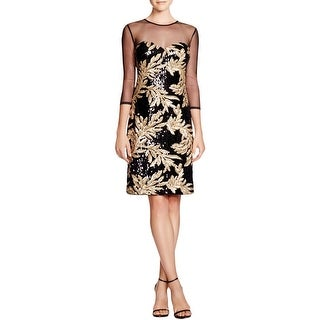 JS Collections Womens Cocktail Dress Sequined Pattern