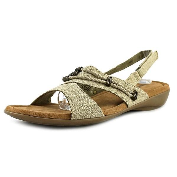 Minnetonka Silvie Women N/S Open-Toe Canvas Slingback Sandal