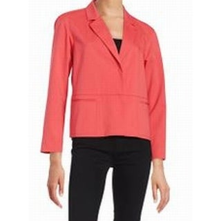Lafayette 148 NEW Salmon Pink Women's Size Small S Two Button Jacket