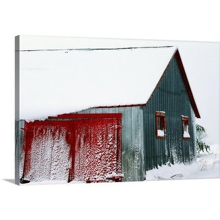 Premium Thick-Wrap Canvas entitled Snow Covered Barn