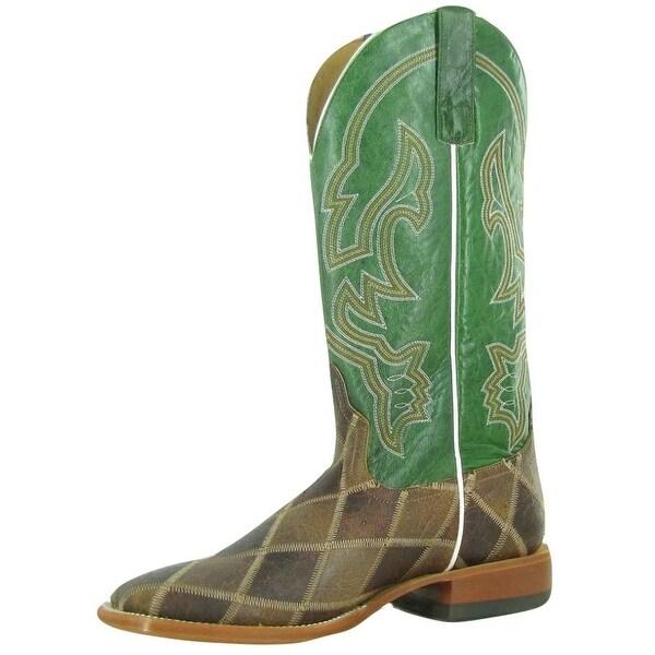 Horse Power Western Boots Mens Thunderstruck Patchwork Emerald