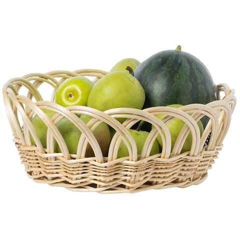 Decorative Round Fruit Bowl Bread Basket Serving Tray