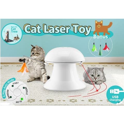360 Degree Automatic Interactive Dart Lasers Light Exercise Teaser Fun Cats Toys