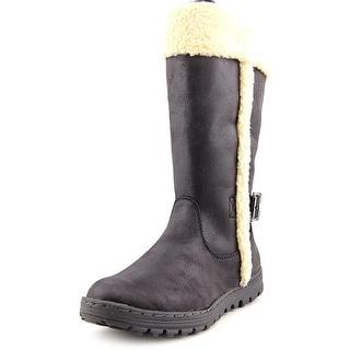 White Mountain ` Women Round Toe Canvas Black Winter Boot