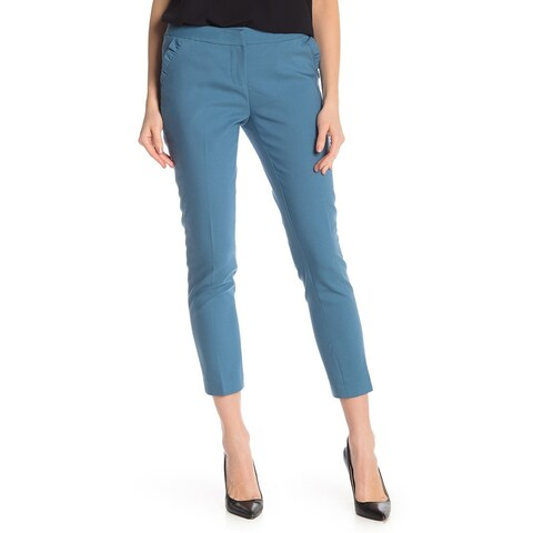 Amanda + Chelsea Blue Women's Size 6X27 Ruffled Dress Pants Stretch