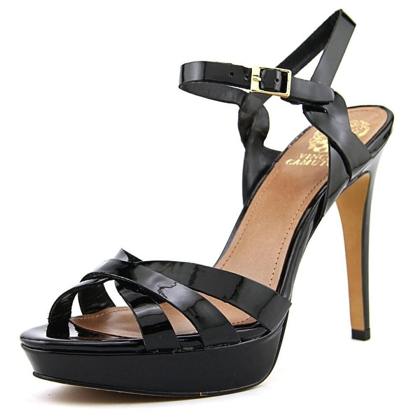 Vince Camuto Jessamae Women Open Toe Synthetic Black Platform Sandal