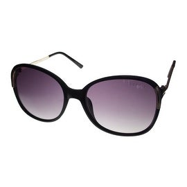 Esprit Womens Sunglass 19453 538 Black Gold Square Plastic Fashion Gradient Lens