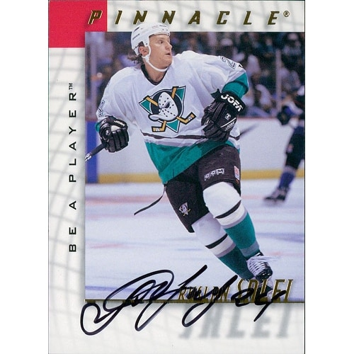 big sale 87f83 c173c Signed Salei Ruslan Anaheim Mighty Ducks 1998 Pinnacle Be A Player Hockey  Card autographed
