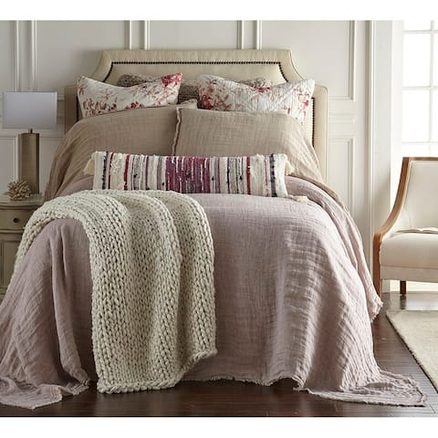 Jaden Lavender Reversible Linen Bedspread Set